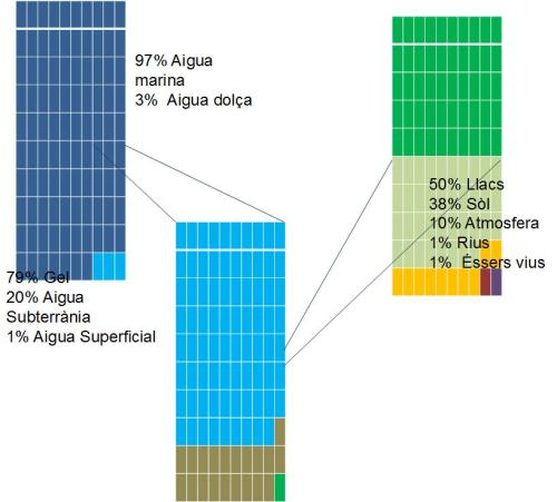 Distribució de l'aigua al planeta Terra