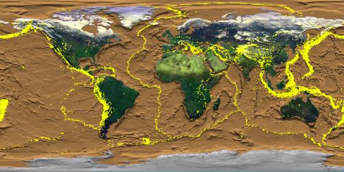 NASA: terratrèmols de 1960 a 1995