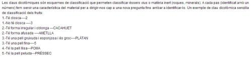 Exemple senzill de la utilització d'una clau dicotòmica