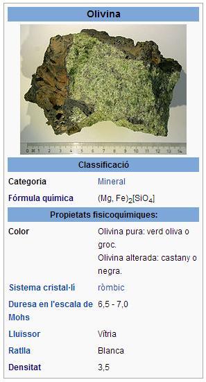 Mineral http://ca.wikipedia.org/wiki/Olivina