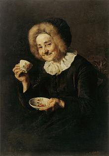 La bevedora de cafè, oli de l'any 1888 d'Ivana Kobilca al Museu Nacional de Ljubljana (Eslovènia).